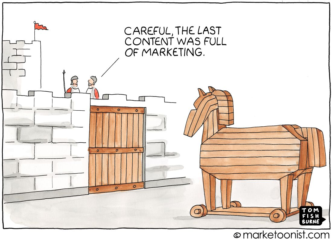 The Trojan Horse metaphor is regularly used to describe content marketing. I've used it frequently myself. I like the idea of marketers sharing content so good that an audience would welcome it for…