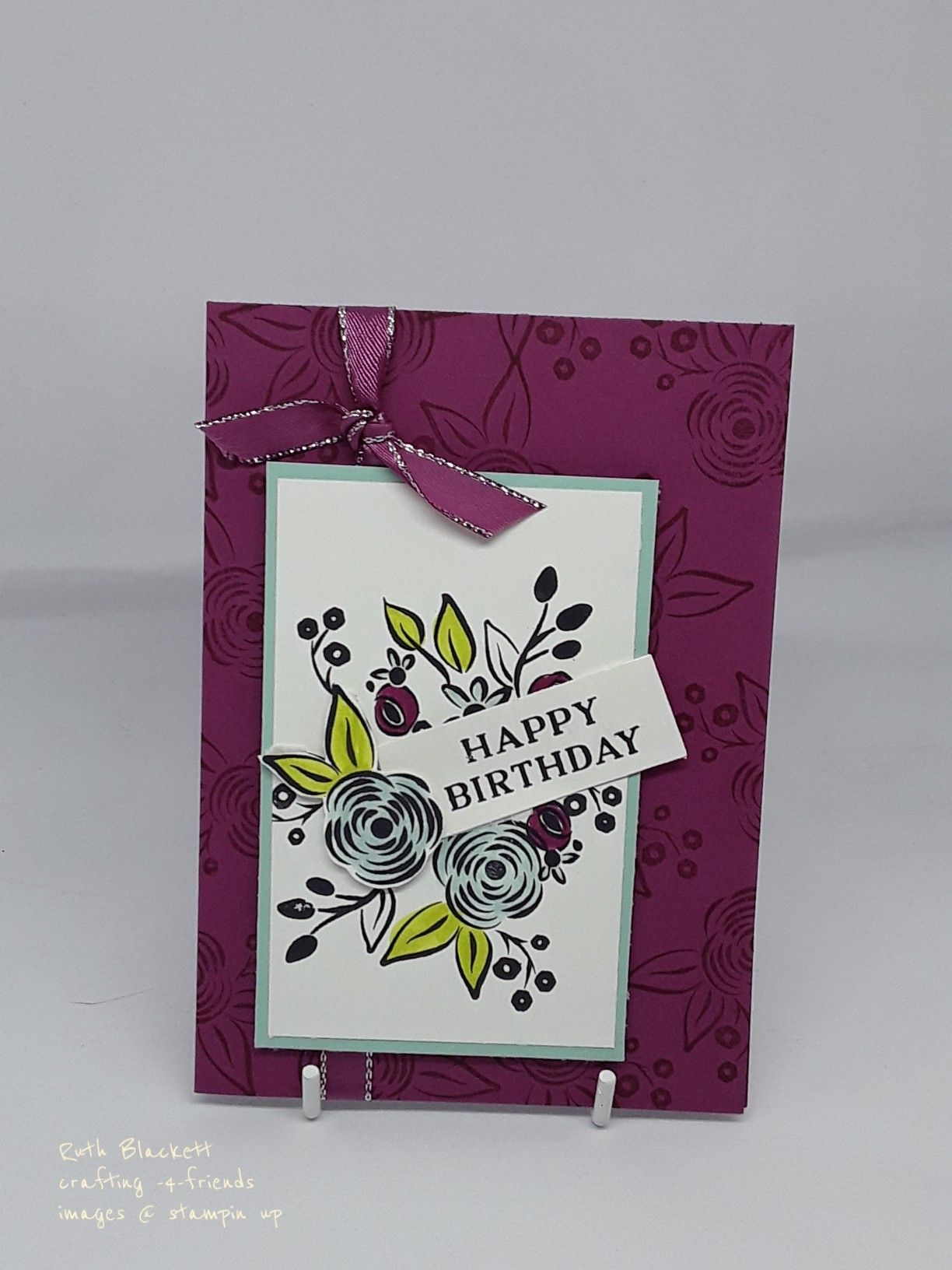 Perennial Birthday Stampin Up Cased From Catalogue Stampin Up