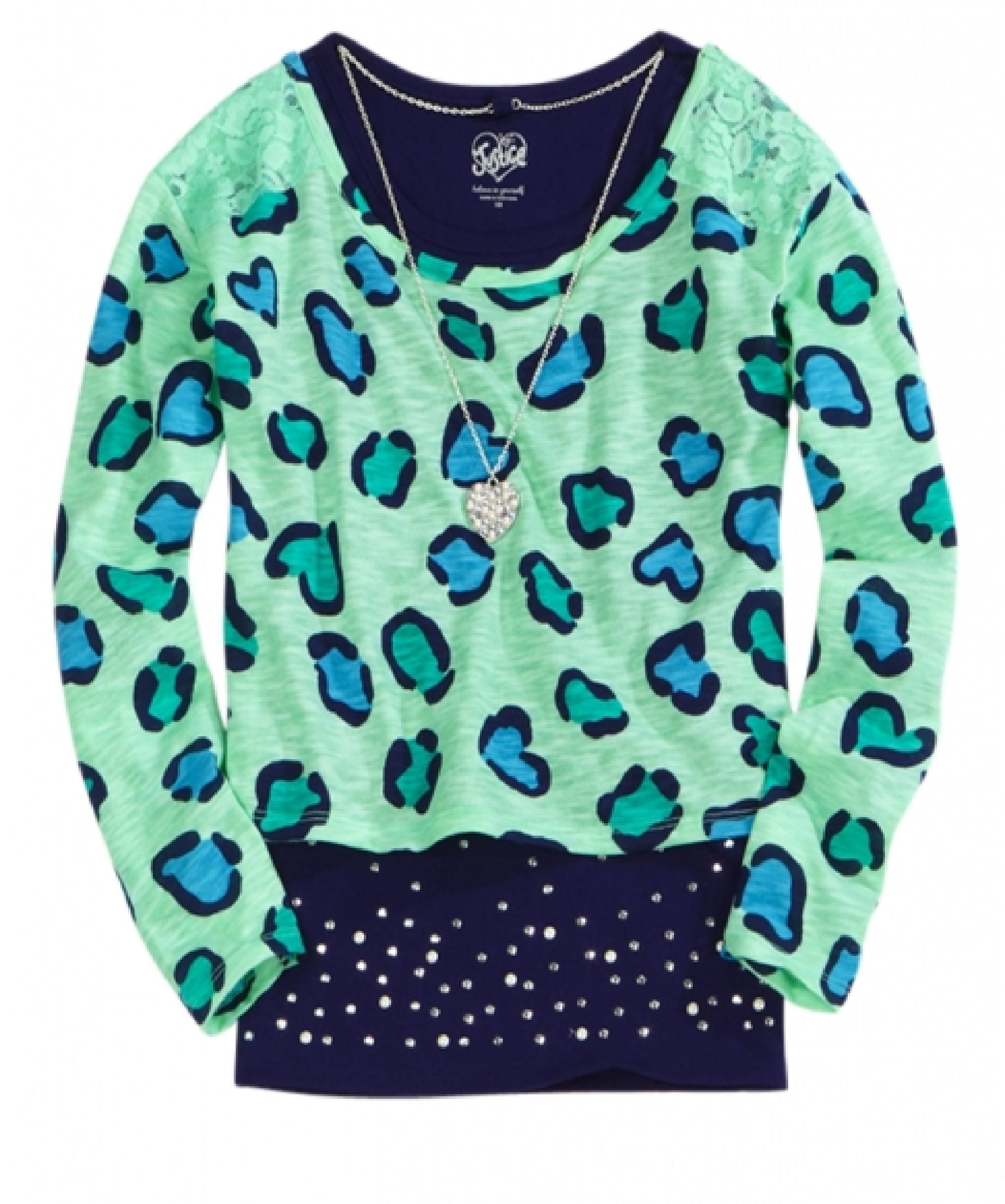 1c3ec2ca1 Justice girls clothing all over leopard print top | Justice Print ...