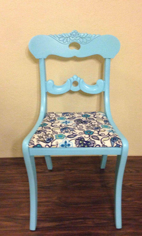 Vintage desk chair • vintage vanity chair • painted occasional chair by PrairieTreasure on Etsy https://www.etsy.com/listing/464130433/vintage-desk-chair-vintage-vanity-chair