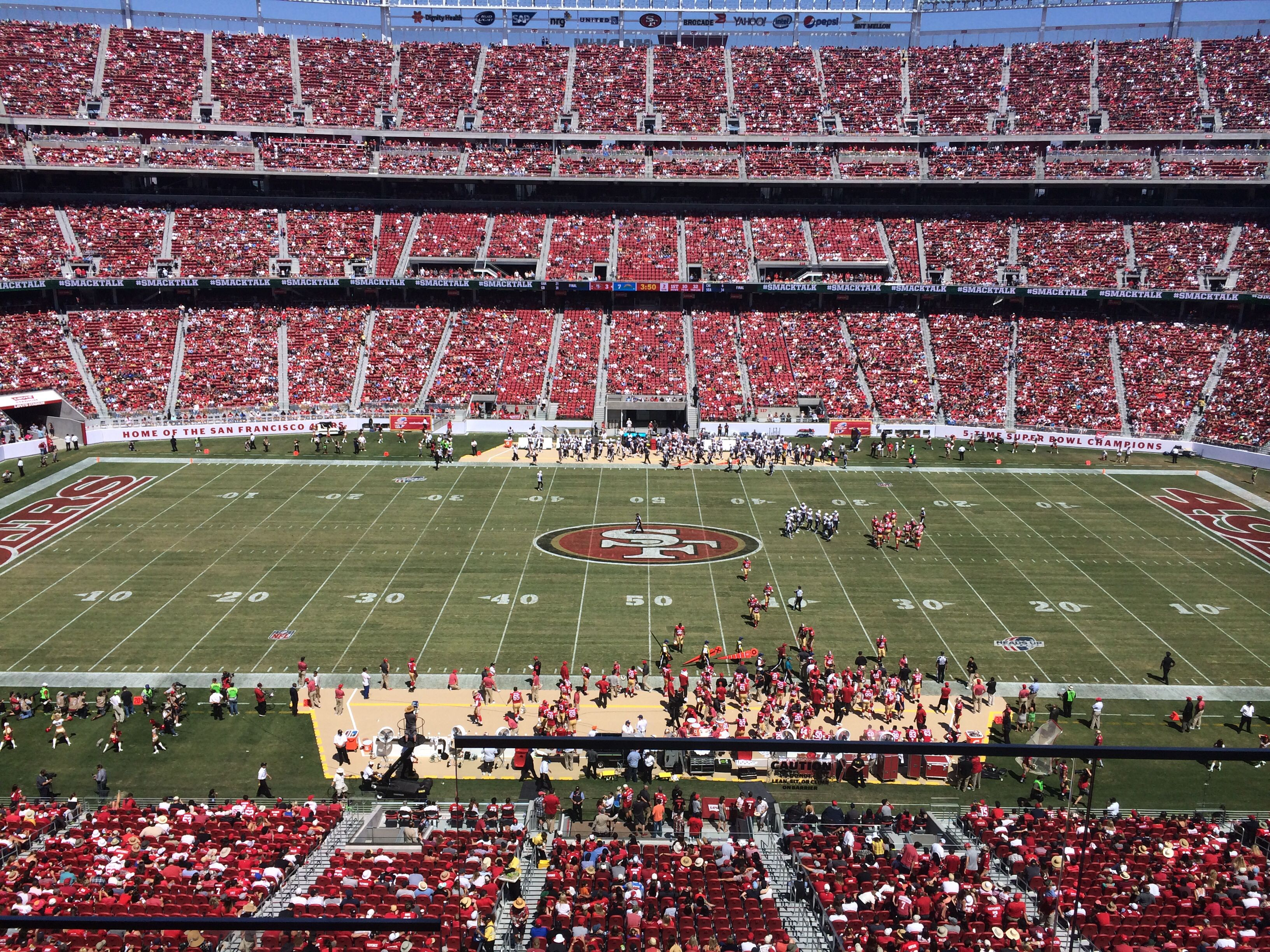 View from the levis suite at levis stadium levi