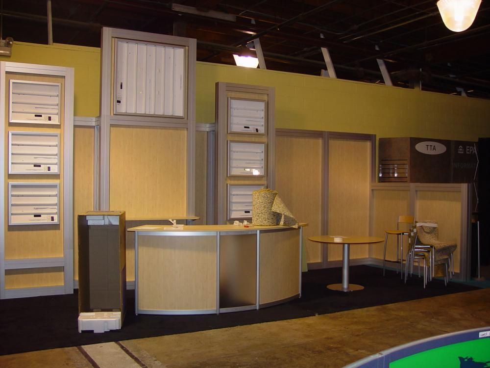 Used 10' x 30' Aluminum and Light Wood Tradeshow Booth