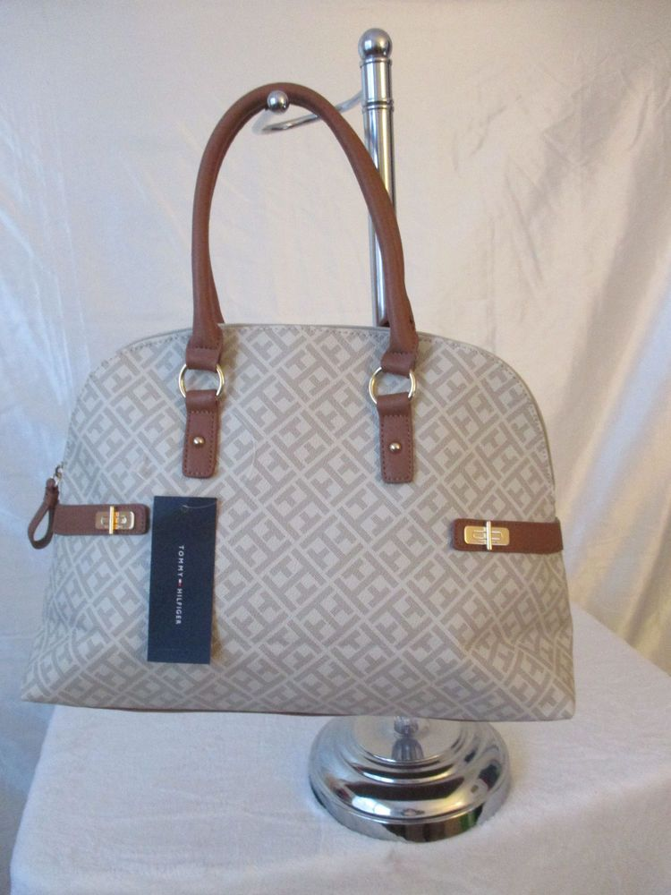 12865488ef New Handbag Tommy Hilfiger Purse DM Satchel Color Beige 646130277 471 # TommyHilfiger #Satchel. Bag ...