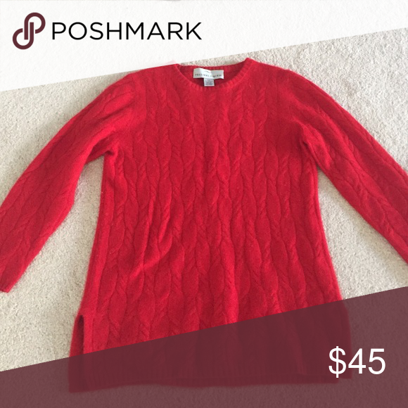 Red 100% cashmere sweater | Cashmere sweaters, Cashmere and Scoop neck