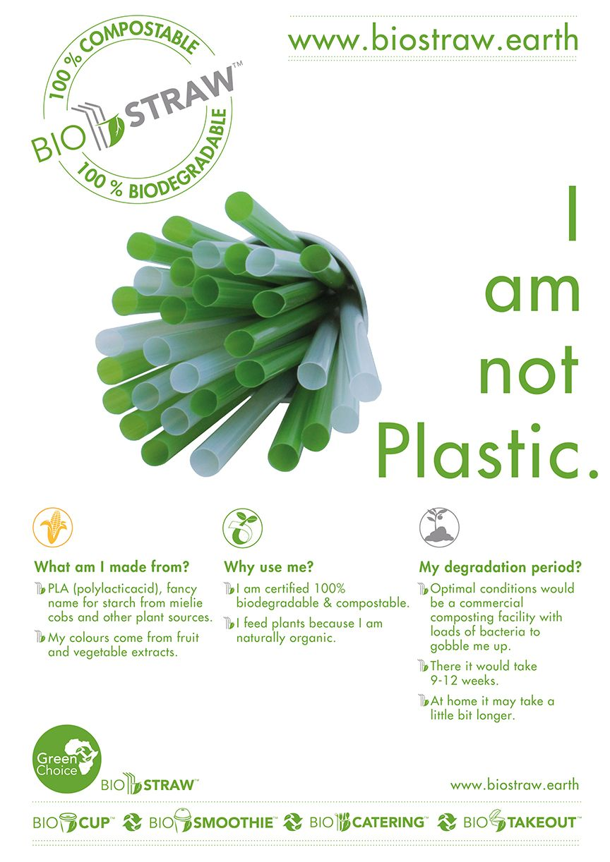 BioStraw | BioStraw earth | PLA straws | I Am Not Plastic | Green
