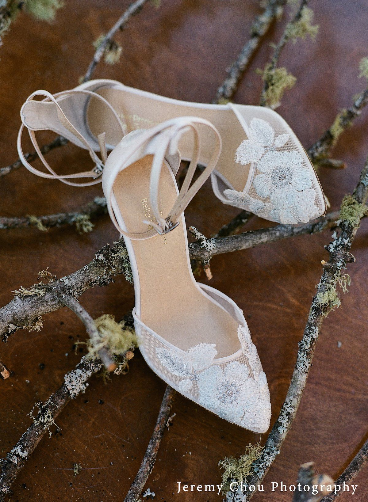 f556218052c Ivory Wedding Heel with 'Something Blue' Floral Embroidery By Claire ...