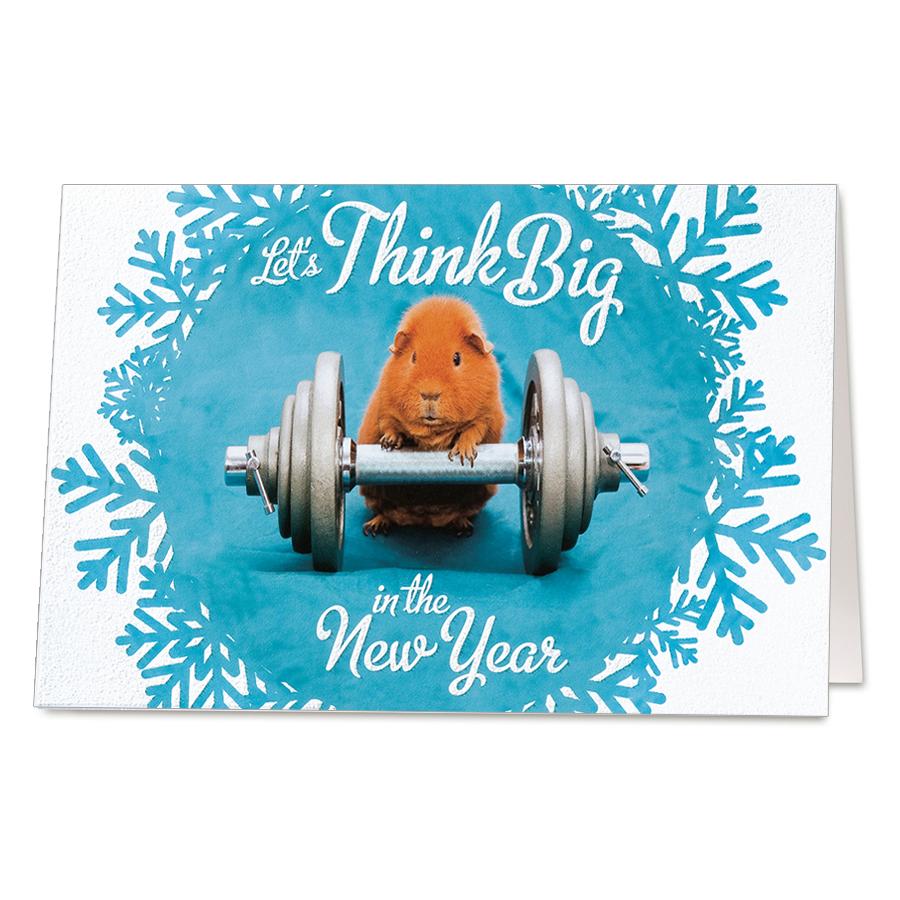 Lustige Neujahrskarten Fitness Mit Effektlack