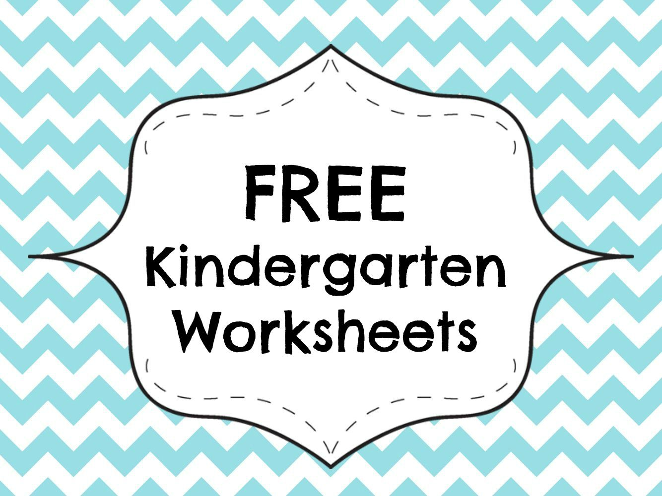 Free Kindergarten Worksheets Printable