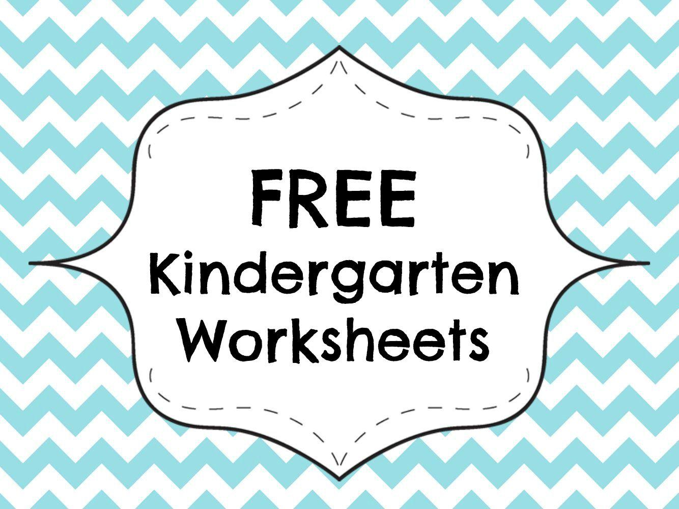 Free Kindergarten Worksheets Printable