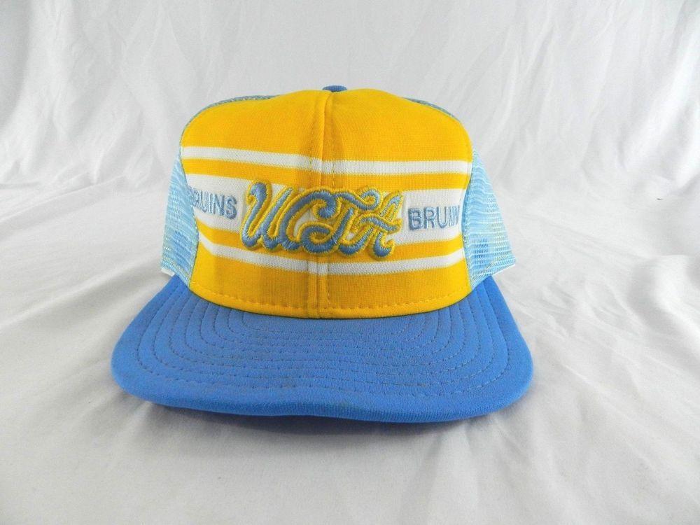 2a408c3c3cac ... cheapest vintage ucla bruins trucker mesh adjustable snapback hat cap  blue yellow nylon ajd baseballcap af509 ...