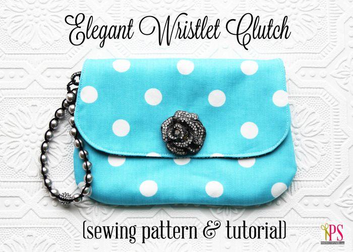 Simple Clutch Handbag Sewing Pattern and Tutorial www.PositivelySplendid.com #toristyle