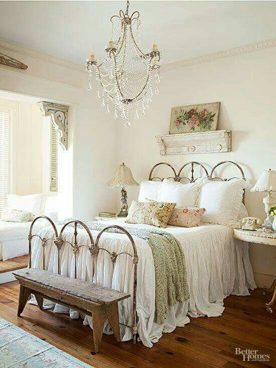 attractive Country Chic Bedroom Ideas Part - 1: Master bedroom cottage shabby chic
