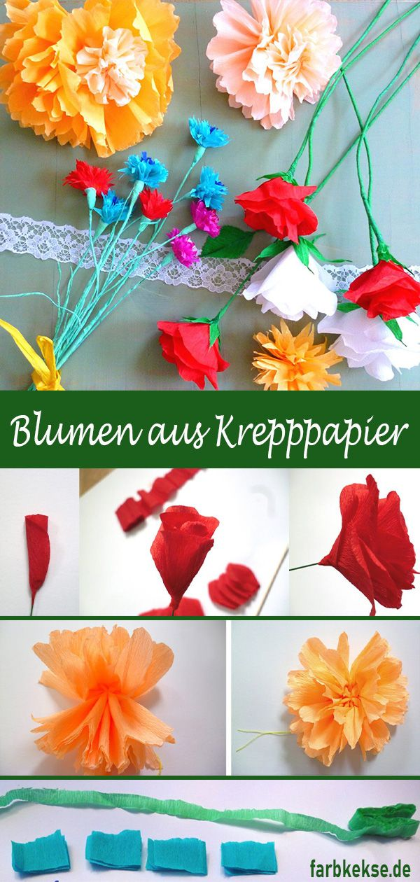 Photo of Crepe paper flowers