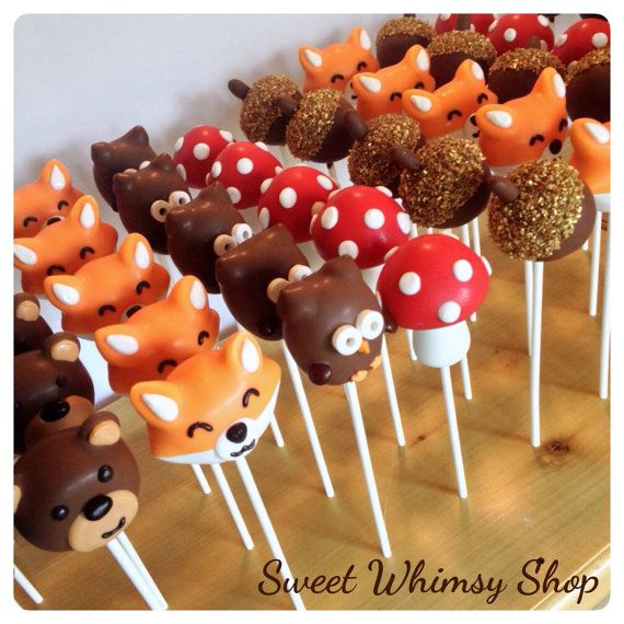 cute wedding cake pops 25 assorted woodland cake pops for forest baby shower 13278