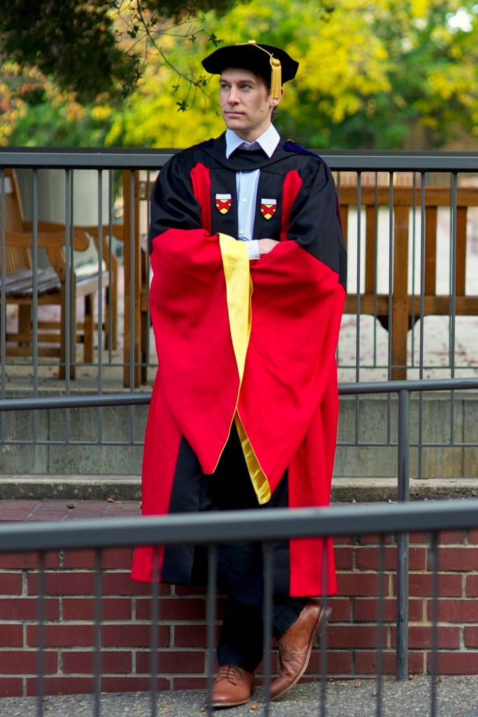 Red And Black Phd Regalia Set Graduation Gown Pinterest