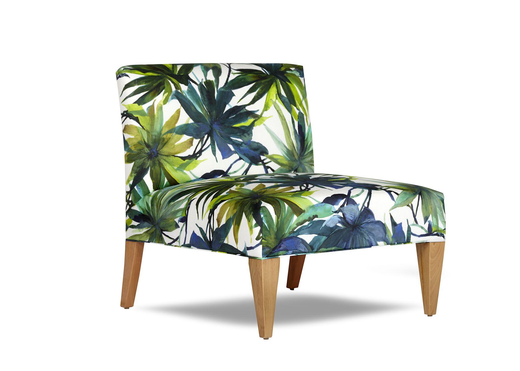 Coco Chair by Arthur G Armless Tropical Upholstery