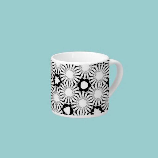 Black & White Sunflowers Espresso Cup