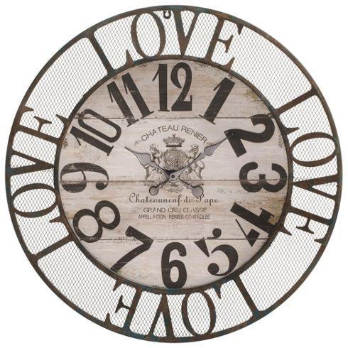 Wanduhr aus metall in braun mit einem durchmesser von 69cm m max suite berlin pinterest - Wanduhren aus metall ...