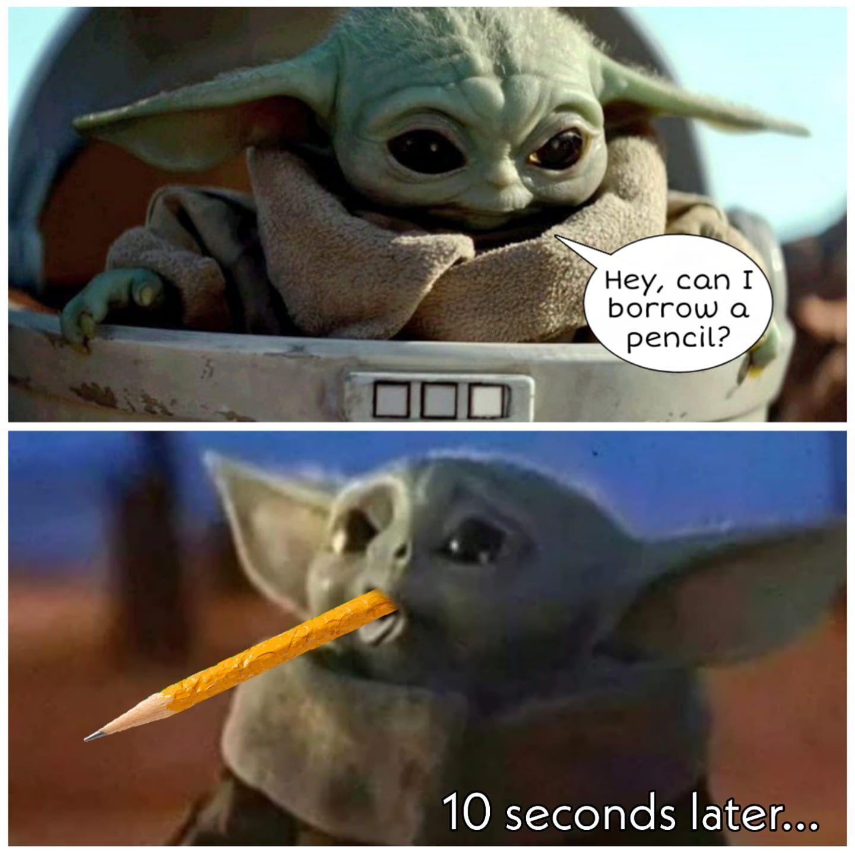 Baby Yoda Funny Cute Memes Yoda Meme Cute Memes