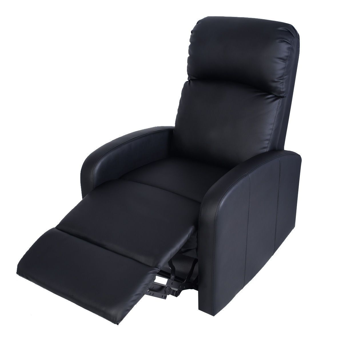 Giantex Manual Recliner Sofa Chair Black Home Living Room ...