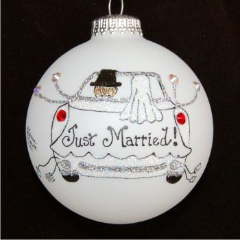 Celebration Time Just Married Christmas Ornament Personalized Christmas Orna Christmas Ornaments Married Christmas Ornaments Personalized Christmas Ornaments