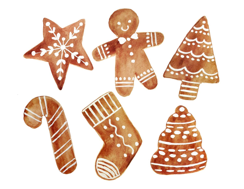 Bilder Weihnachten Clipart.Christmas Clipart Christmas Cookies Clipart Cookies Clipart