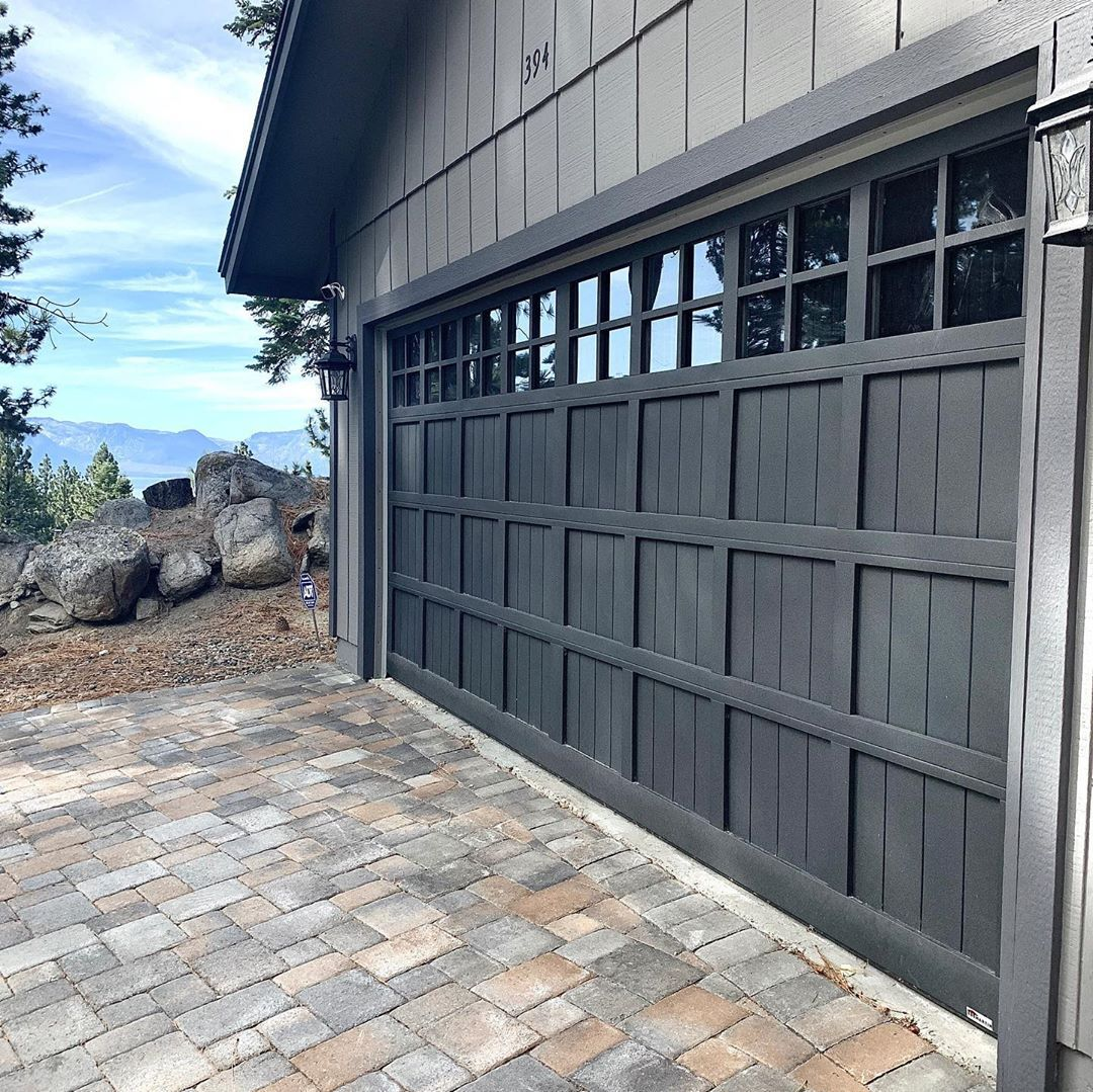Our Clients Chose A Martin Pinnacle Garage Door Powder Coated In Weathered Iron Grey To Compliment The Exterior Colors Of Their Home