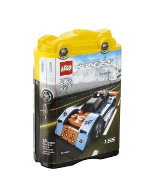 LEGO Blue Bullet 8193 by LEGO. $13.99. Contains 50 pieces. Can be combined with #8192, 8194, 8195. Fold-out raceway. New yellow car lid. Rebuild into racing truck with 8195 Turbo Tow. From the Manufacturer                This Le Mans-style Tiny Turbos racer has aerodynamic lines and slick tires to ensure a victory on even the toughest course. Race into even more fun by adding it to any of the fold-out LEGO Racers sets, or create a cool racing truck by rebuildi...