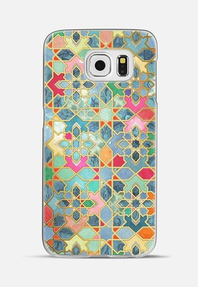 GILT & GLORY - COLORFUL MOROCCAN MOSAIC Galaxy S6 case by Micklyn Le Feuvre | Casetify