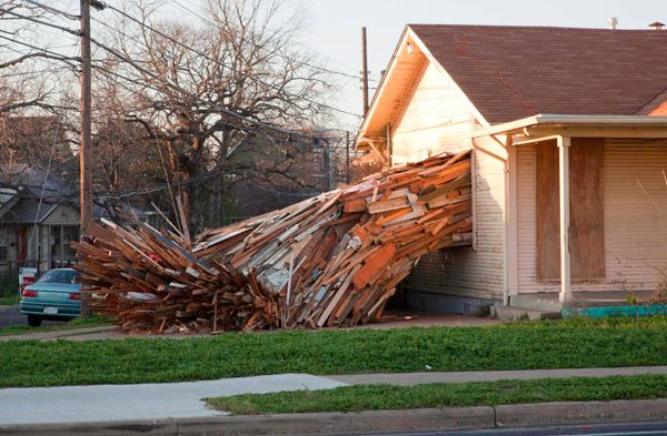 A Condemned House Explodes Onto The Streets Of Austin Installation Art Artistic Installation Home Art