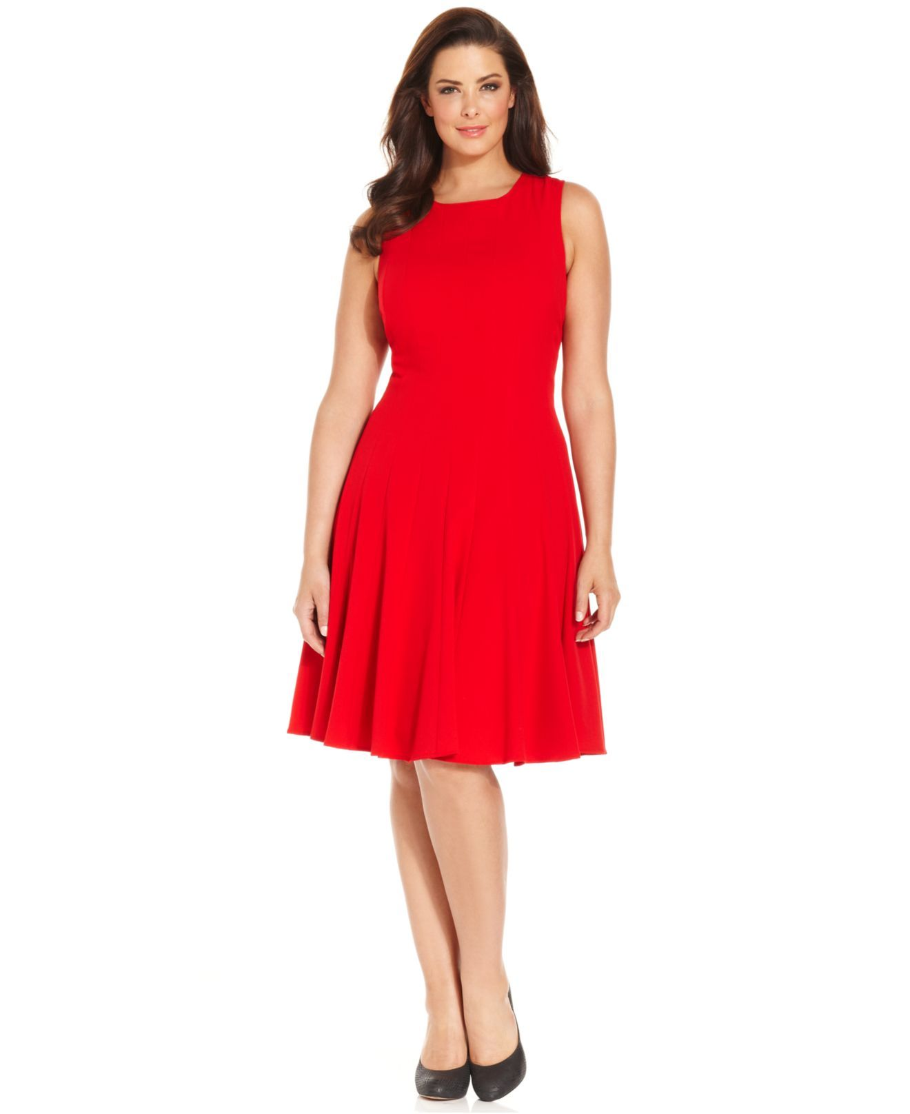 red a line dress plus size | Color dress | Pinterest
