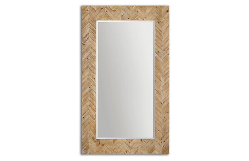 Mayville 44 X74 Floor Mirror Natural Now 399 00 Was 499 00 Wooden Mirror Wood Mirror Home Decor Mirrors