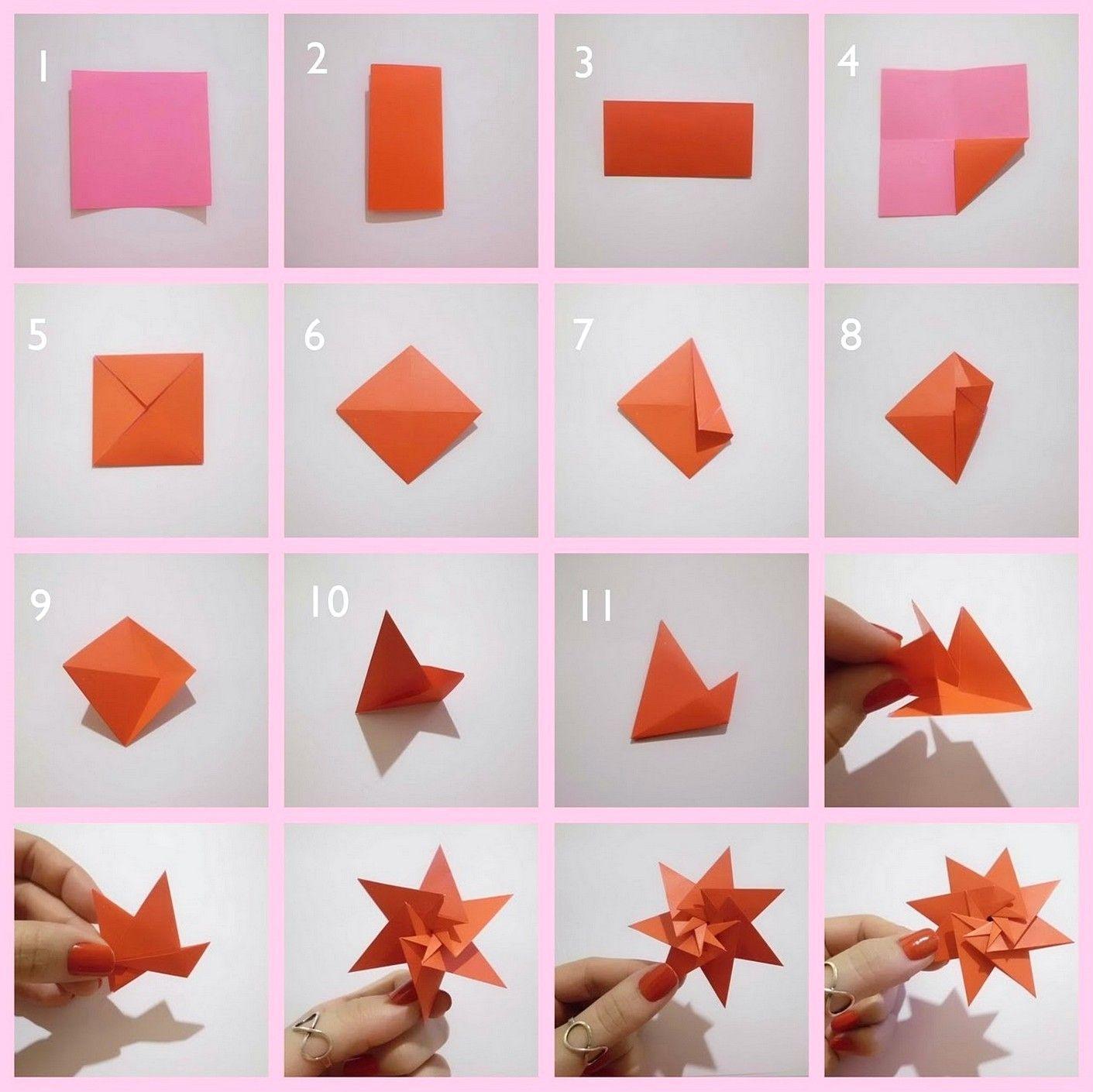 Desain Hiasan Dinding Kamar Tidur Dari Kertas Origami Origami Mudah Origami Tutorial Origami Hiasan dari kertas origami