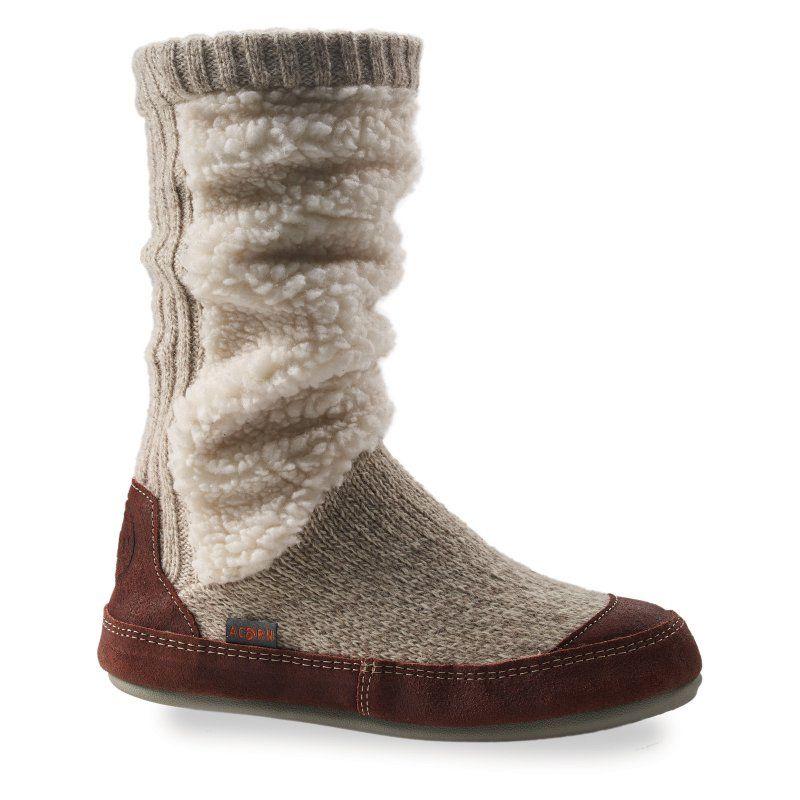 31a6f368cde2 Acorn Womens Slouch Boot Slipper Socks Buff Popcorn