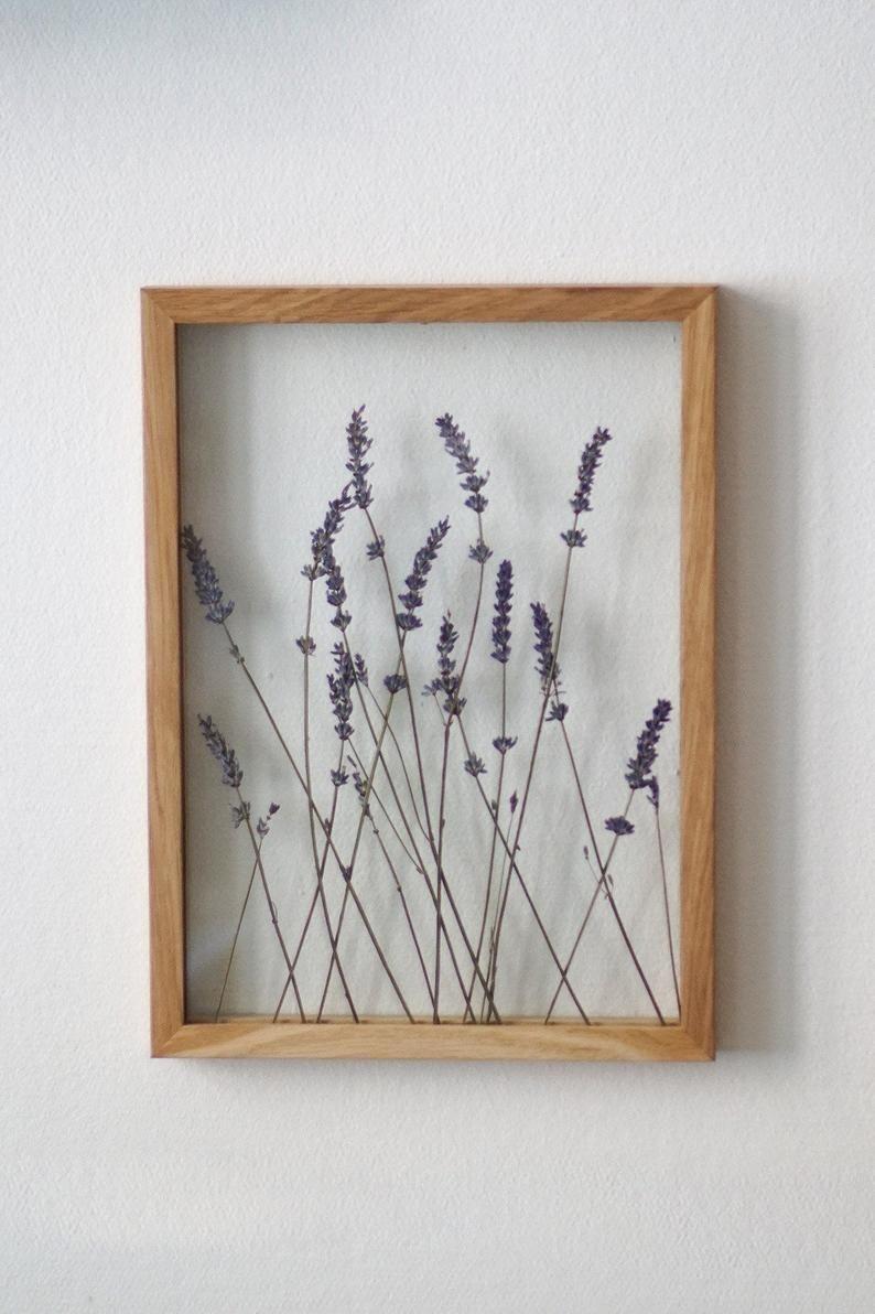 Pressed Lavender Art Pressed Flower Frame By Mybotanica Etsy In 2020 Pressed Flower Art Flower Frame Pressed Flowers