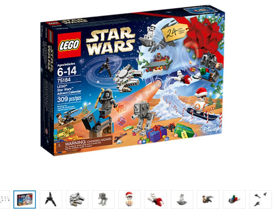 New Lego Star Wars Advent Calendar 75184 Xmas Lego Star Wars