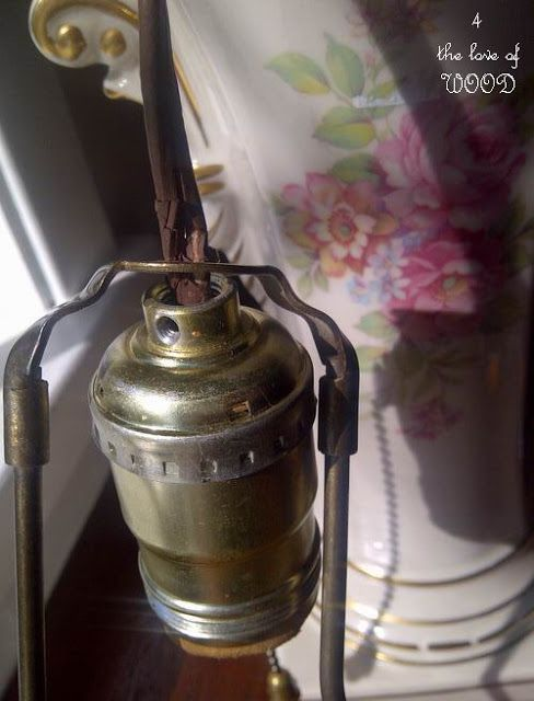 vintage isn t always safe lamp re wiring tutorial excellen rh za pinterest com
