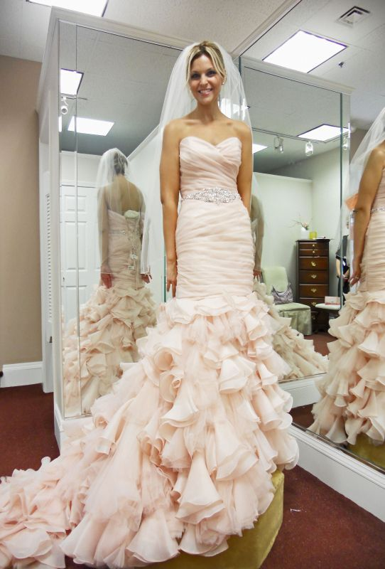 Maggie Sottero Divina On A Real Live Person Ie Not With That Weird Mohawk Hairdo The Website 0