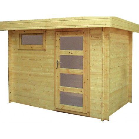 Abri de jardin en bois Coline modèle 7,63 m² - Décor et Jardin - construire une cabane de jardin en bois