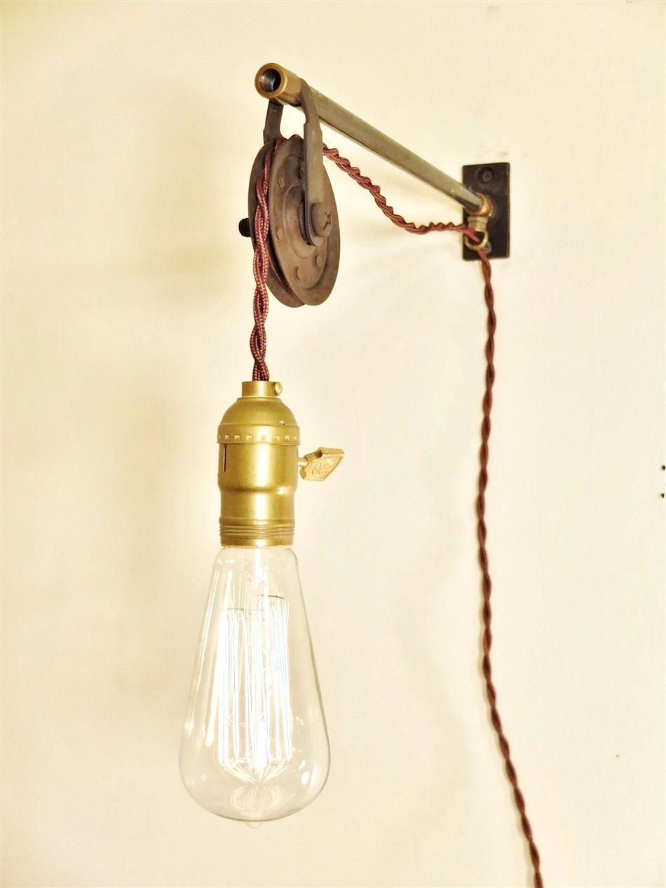 Pretty Design Wall Mounted Pendant Light Mount Pulley For Lamps