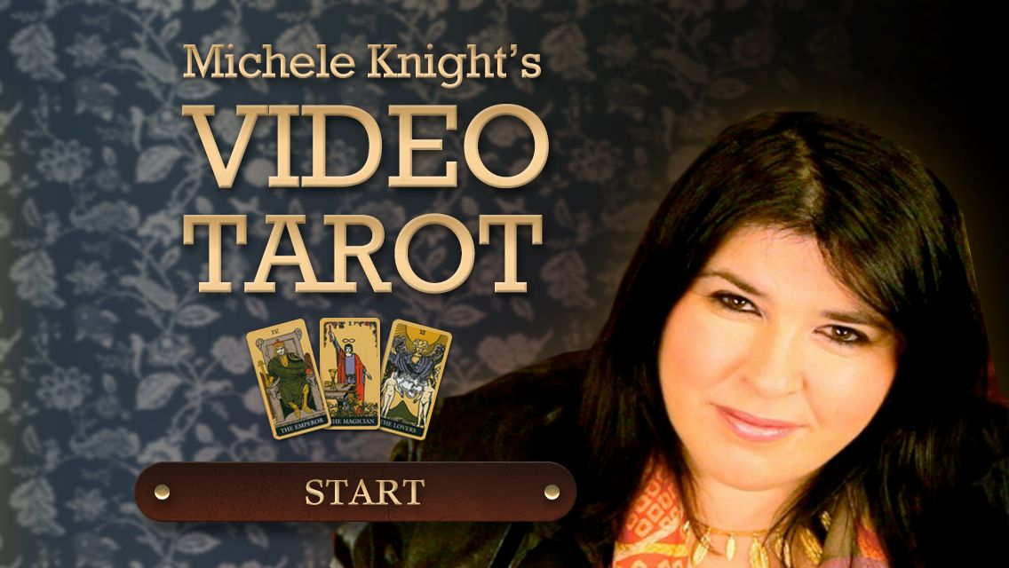 The Michele Knight Video Tarot App offers an enjoyable and exciting way to get unique tarot readings from the world renowned psychic.   The concept of the app is a journey through Michele's beautiful home (which it is!) starting by opening the front door, passing through the corridor and entering her lounge. In the lounger there are many tappable items which lead to features and surprises.