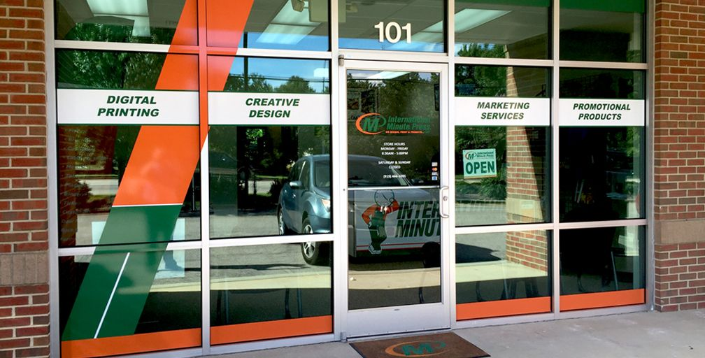 International Minute Press in Cary, NC storefront http