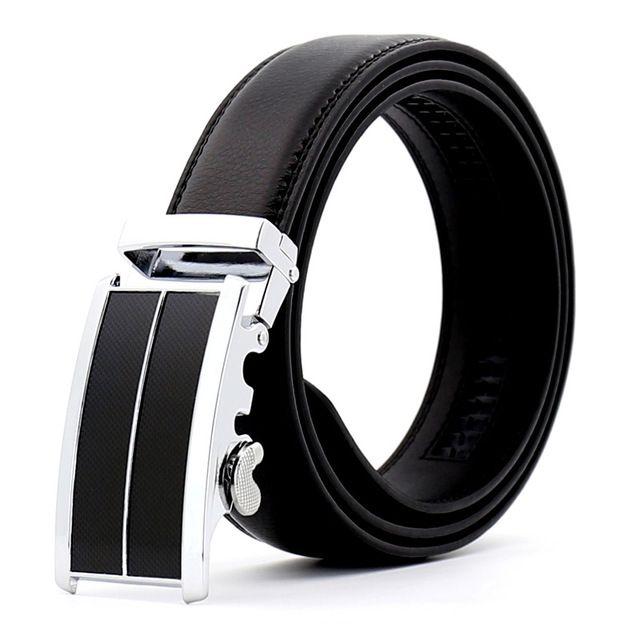 Plyesxale top cow genuine leather belts men automatic buckle ratchet belt cinturon hombre ceinture homme g78
