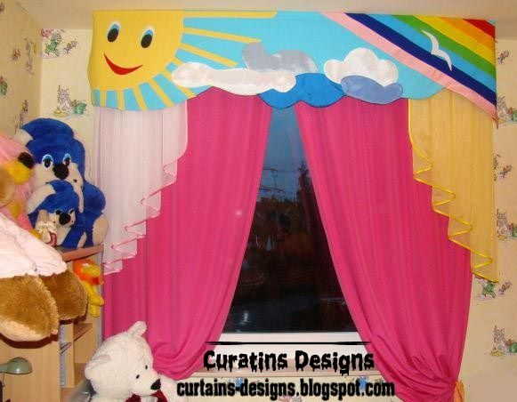 Cool Curtain Design For Kids Room Windows, Cool Kid Curtain Style