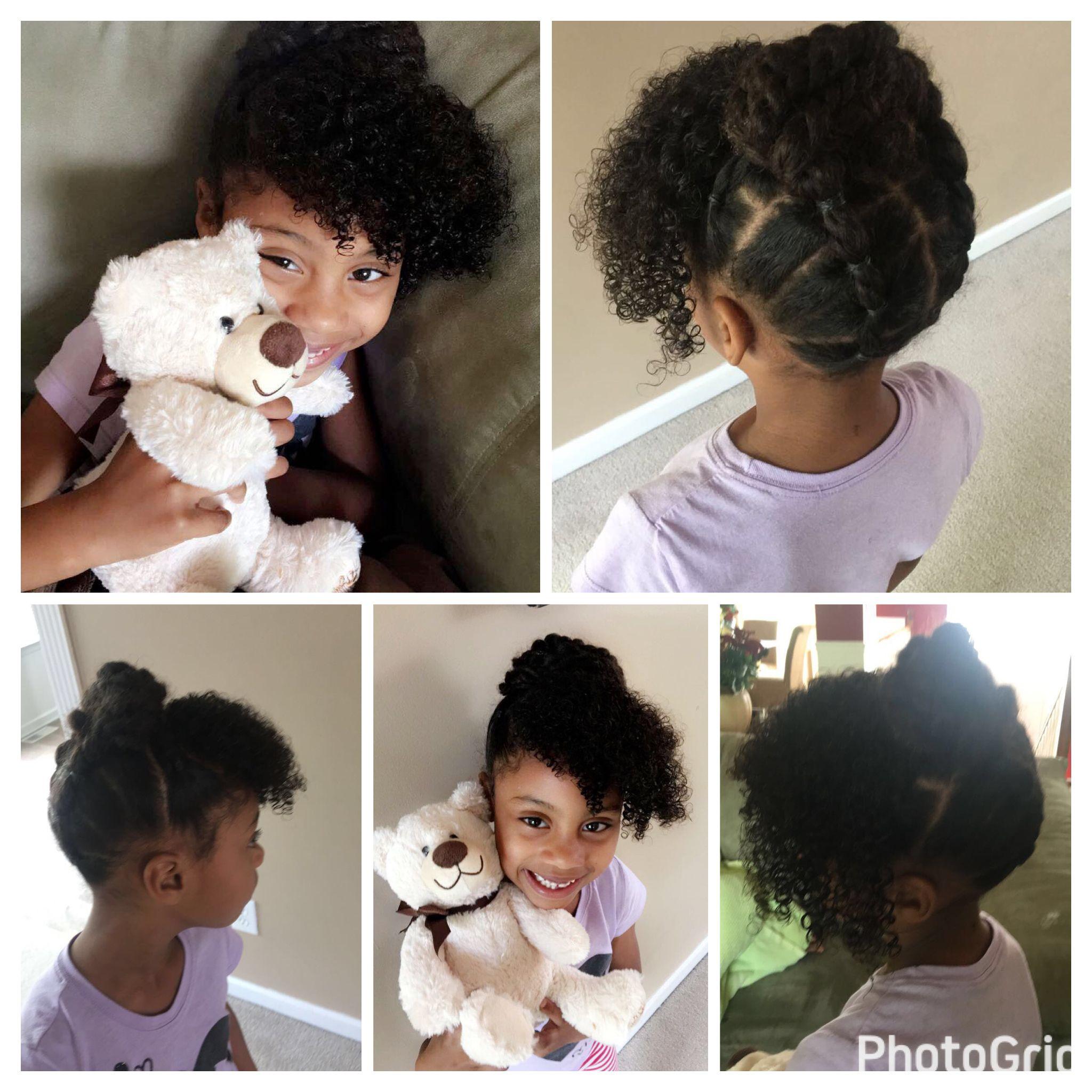 Natural hair curls kids updos simple hairstyles hair