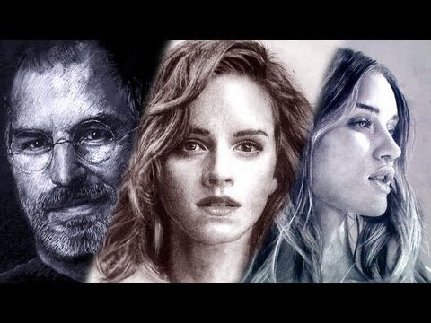 DRAWINGS with Weird Media!! - ThePortraitArt - AMAZING TALENT!