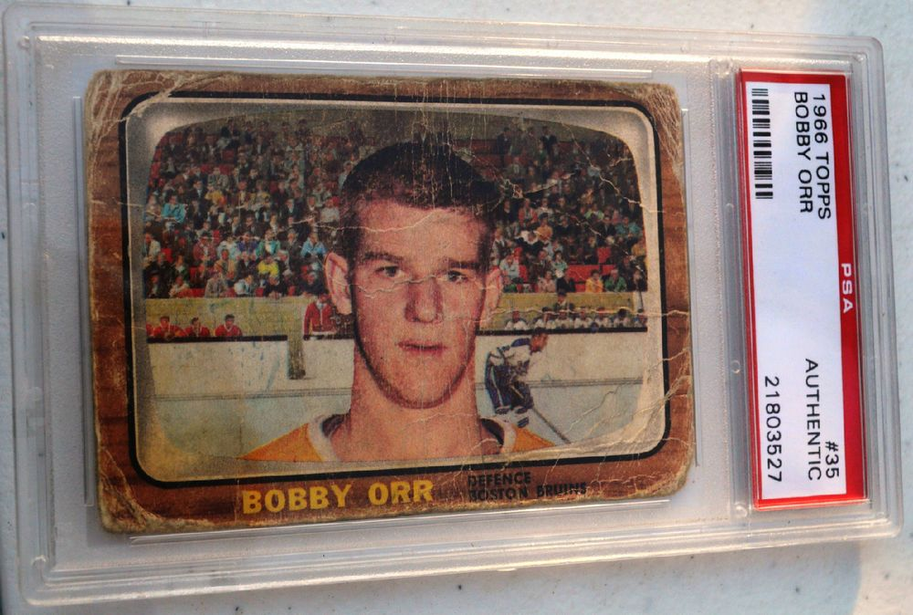 1966 67 Topps 35 Bobby Orr Rookie Card Psa Authentic Free