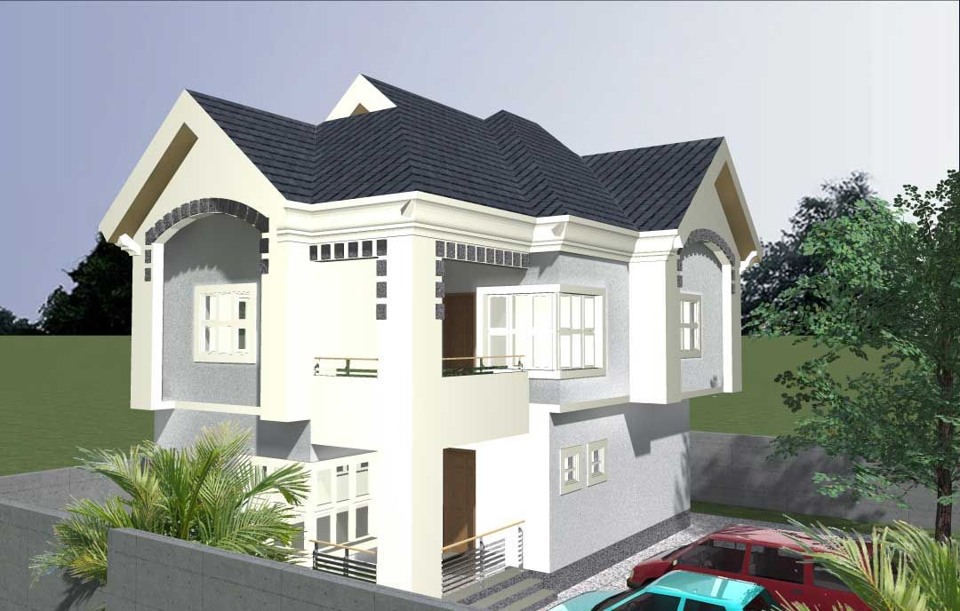 4 Bedroom Mini Duplex Free House Plans Duplex House Design Duplex House