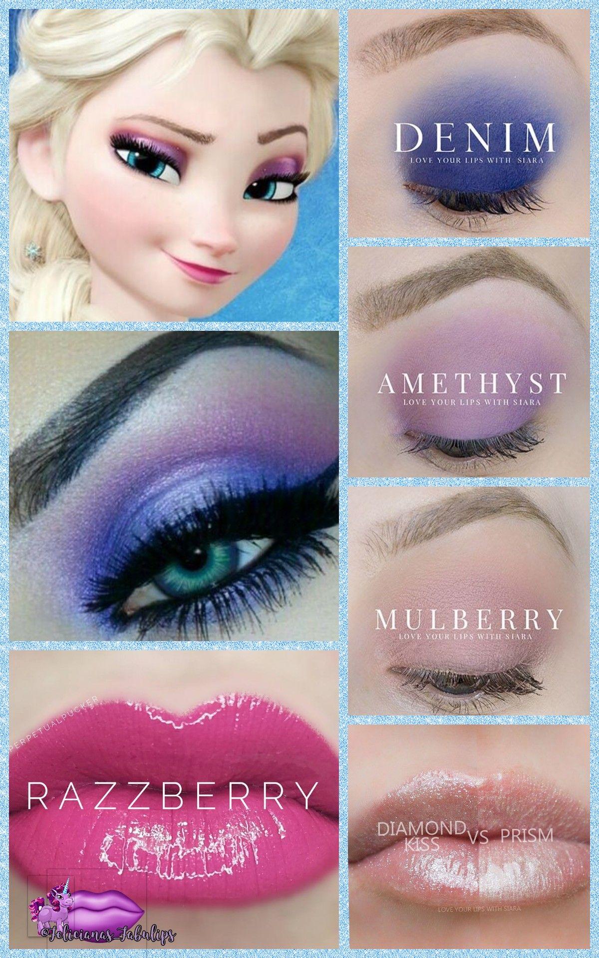 You Can Replicate This Beautiful Frozen Look To Look Like Elsa Magical Disney Looks Denim Amethyst Mul Disney Princess Makeup Frozen Makeup Elsa Makeup