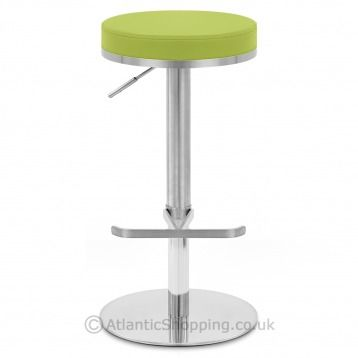 Our Oracle Brushed Steel Stool Green Displays A Chic Modern